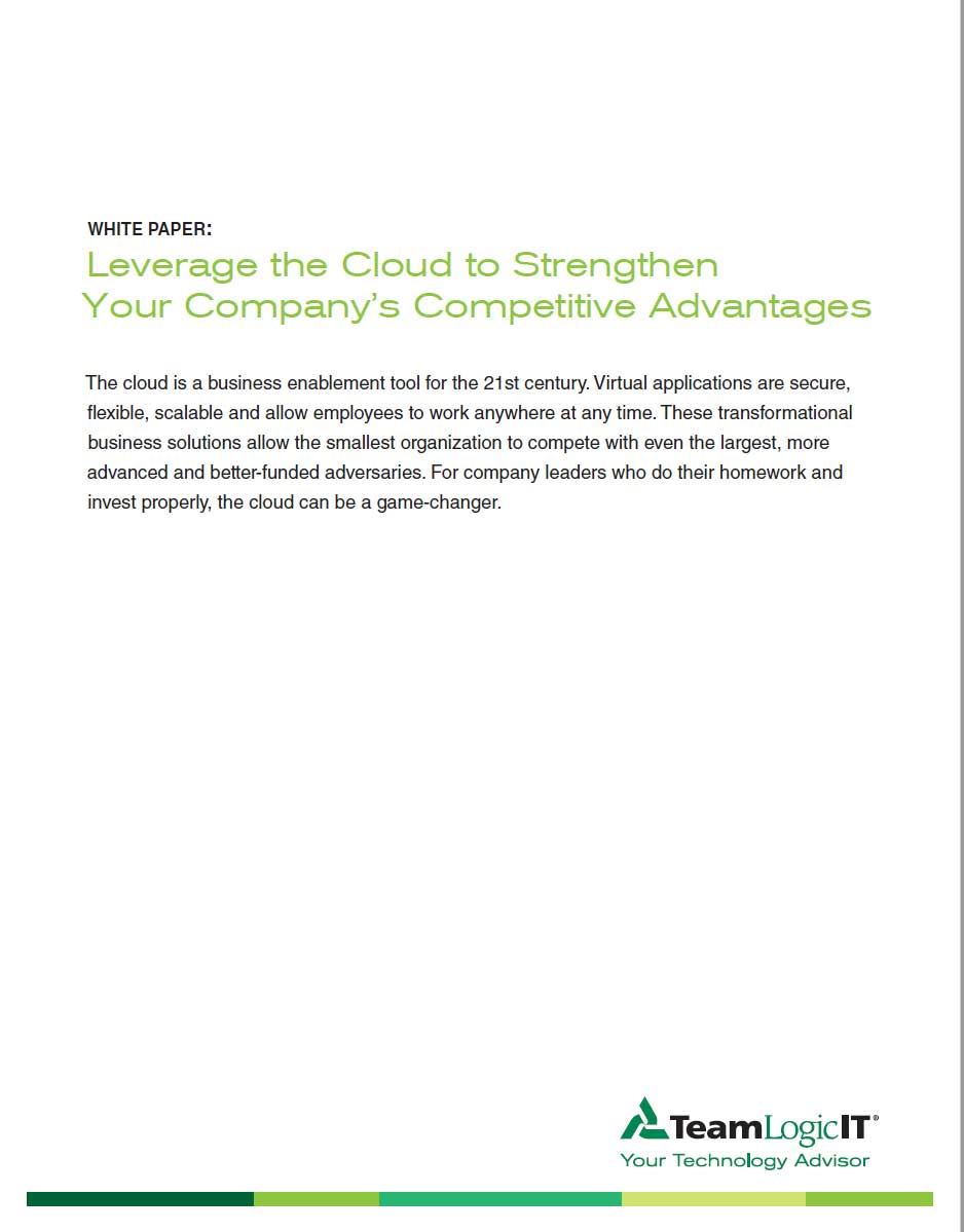 Leverage the Cloud to Strengthen Your Company's Competitive Advantages